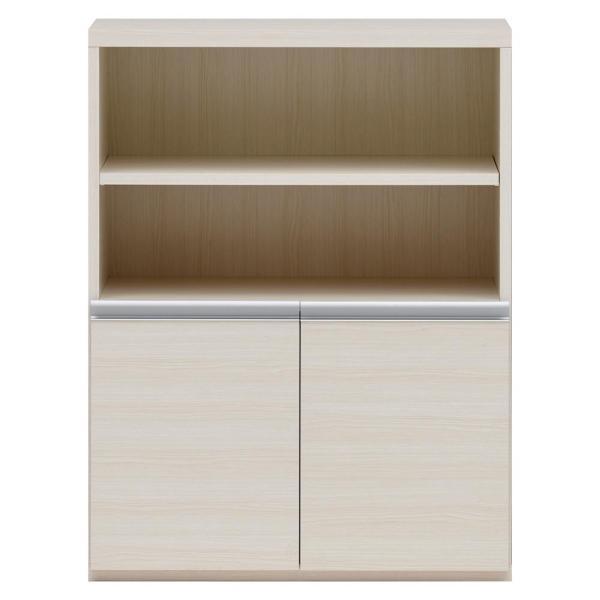 フナモコ 収納棚 オープン棚 + 戸棚 ホワイトウッド ECS-75H (1361255)【smtb-s】