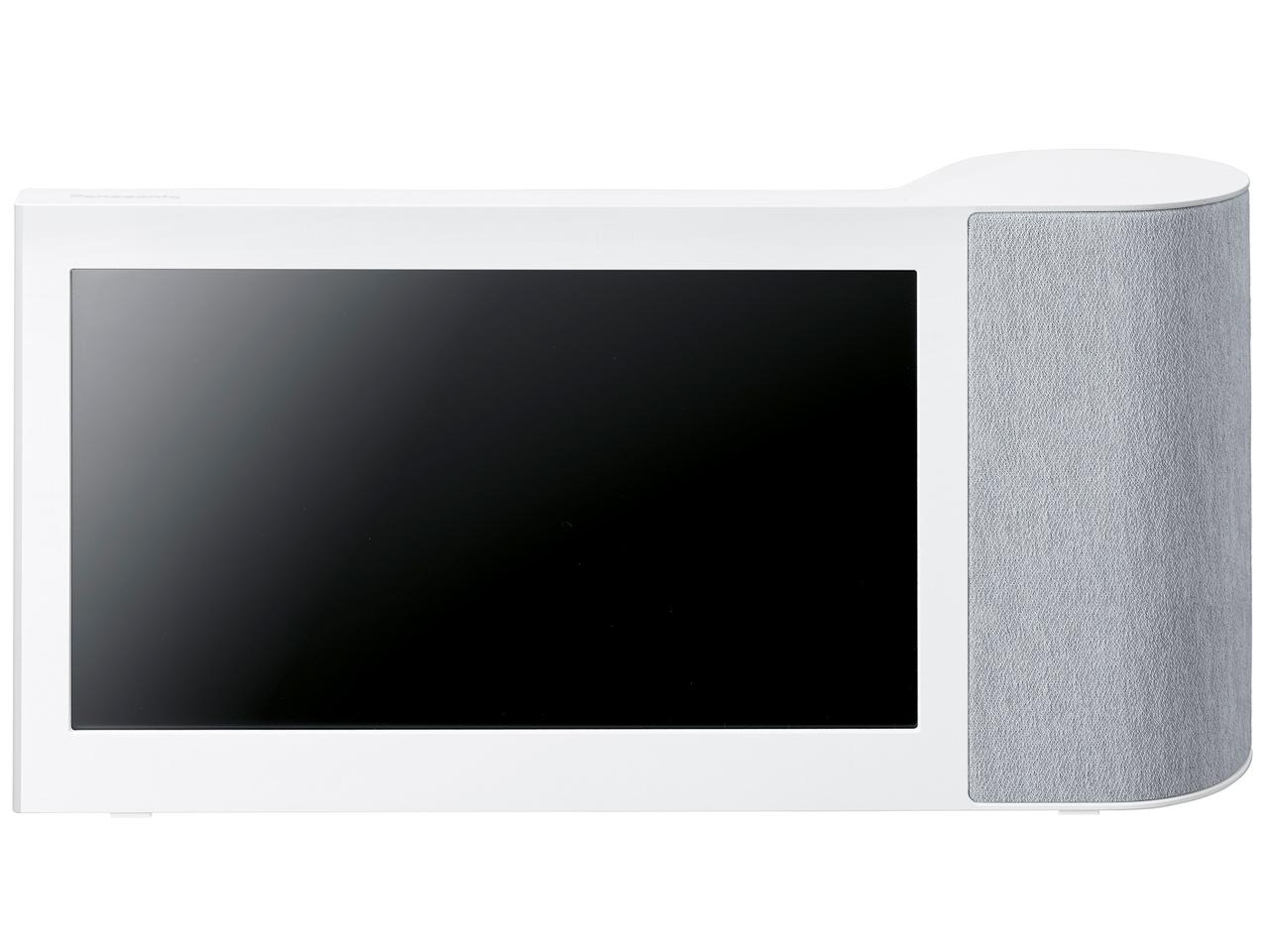 【送料無料】 パナソニック 10インチモニター付き ワイヤレススピーカー インターネット動画対応 Bluetooth/無線LAN対応 ホワイト SC-VA1-W【smtb-s】