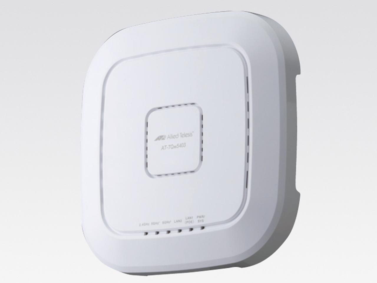 アライドテレシス AT-TQm5403-Z1 [IEEE802.11a/b/g/n/ac対応 無線LANアクセスポイント、10/100/1000BASE-Tx1、10/100/1000BASE-T(PoE-IN)x1(デリバリースタンダード保守1年付)](3910RZ1)【smtb-s】
