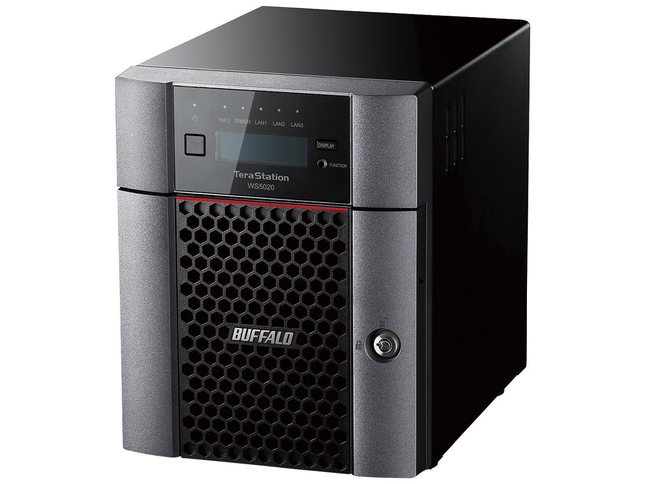 バッファロー Windows Server IoT 2019 for Storage Workgroup Edition搭載 4ベイデスクトップ4TB(WS5420DN04W9)【smtb-s】