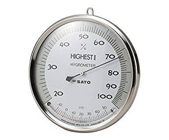佐藤計量器製作所 ハイエスト型湿度計温度計付 150mmNC1-626-011-626-01【smtb-s】