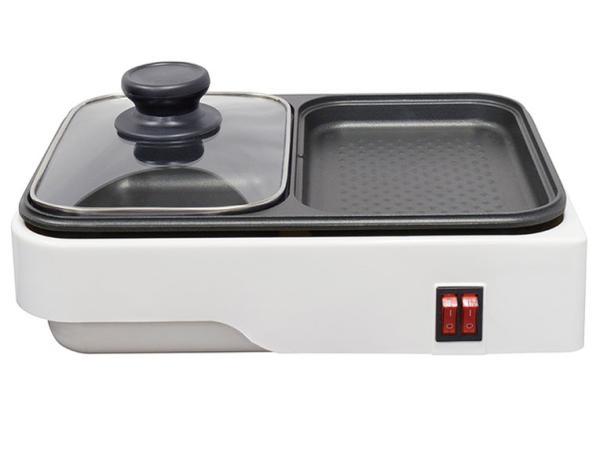 新品 送料無料 オーム電機 新作製品、世界最高品質人気! 2WAYプレート 鍋料理と焼き料理を一度に
