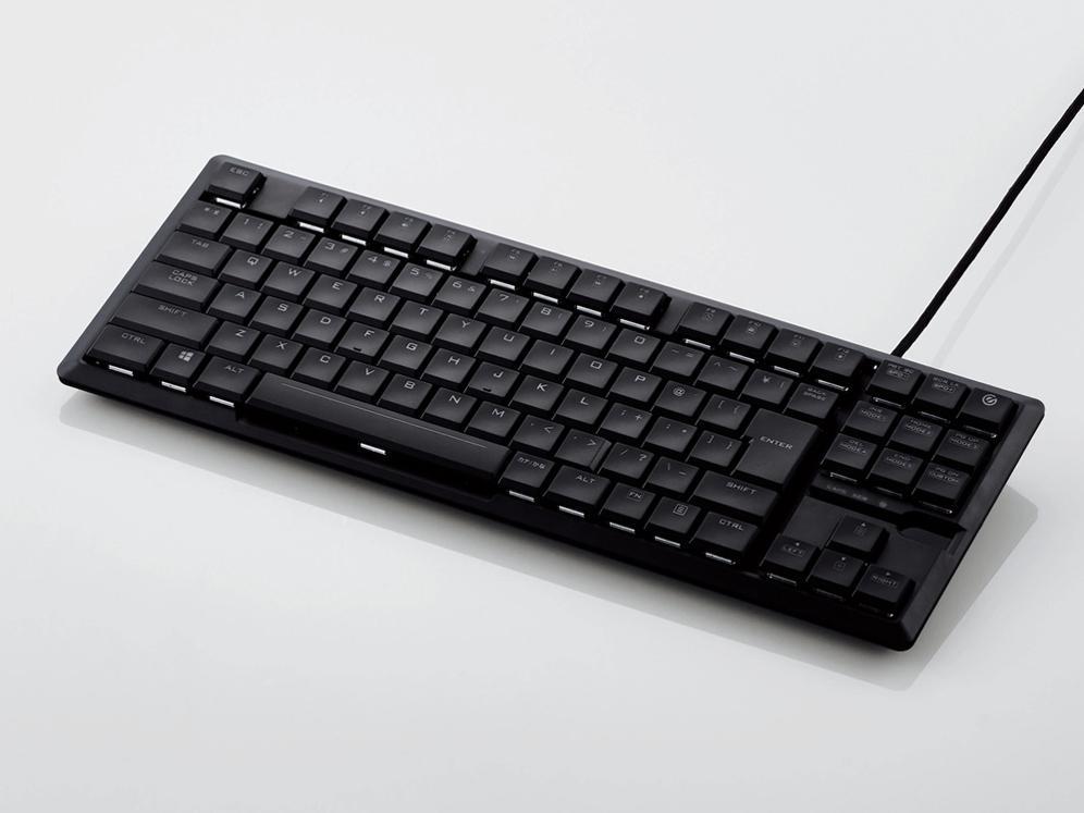 エレコム ゲーミングキーボード/ARMA/薄型メカニカル/耐久/有線/ブラック(TK-ARMA30BK)【smtb-s】