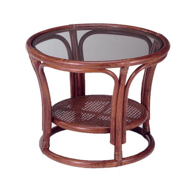 今枝ラタン 籐 テーブル サイドテーブル ブラウン NO-21D (1413015)【smtb-s】