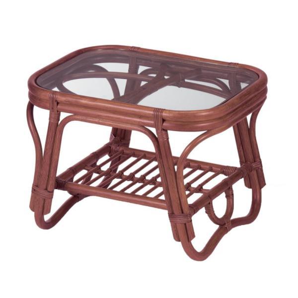 今枝ラタン 籐 テーブル サイドテーブル ブラウン NO-36D (1413018)【smtb-s】