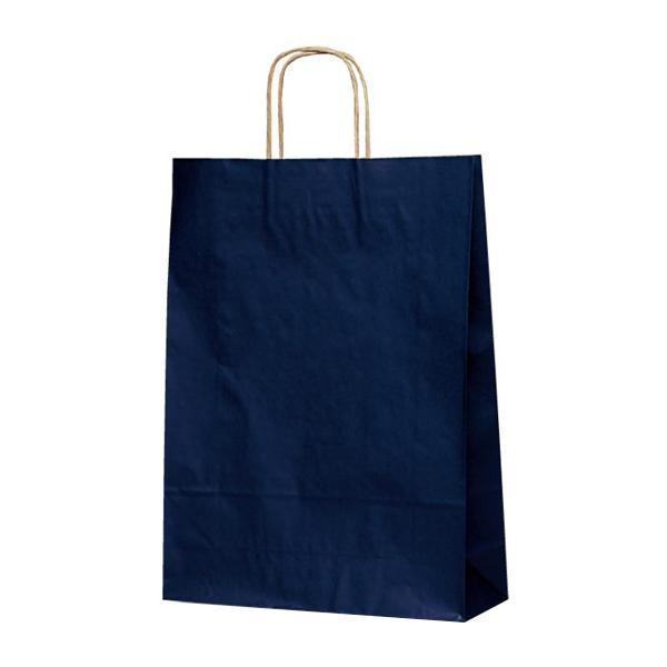 【送料無料】 T-8 自動紐手提袋 紙袋 紙丸紐タイプ 320×110×430mm 200枚 カラー(紺) 1874 (1423613)【smtb-s】