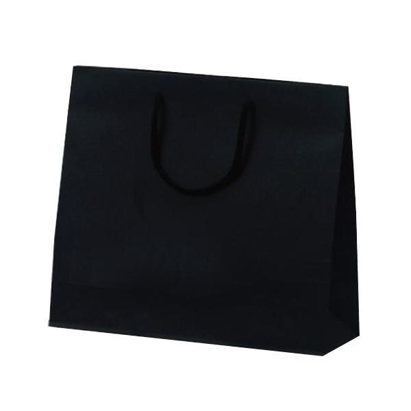 【送料無料】 T-6 カラークラフト 紙袋 330×100×290mm 100枚 ブラック 1038 (1423785)【smtb-s】