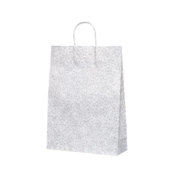 【送料無料】 T-8 自動紐手提袋 紙袋 紙丸紐タイプ 320×110×430mm 200枚 フロスティ(グレー) 1845 (1423628)【smtb-s】