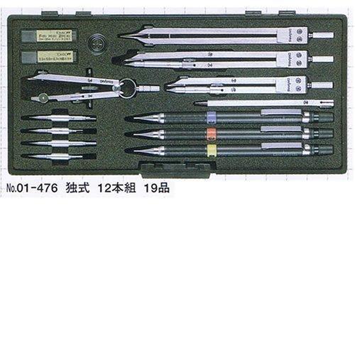 ドラパス NO.476 独式製図器セット12本組19品 (1221179)【smtb-s】