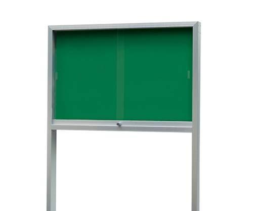 新協和 アルミ屋外掲示板(2本脚型)シリンダー錠式シルバー SK-2091-1-SLC【smtb-s】
