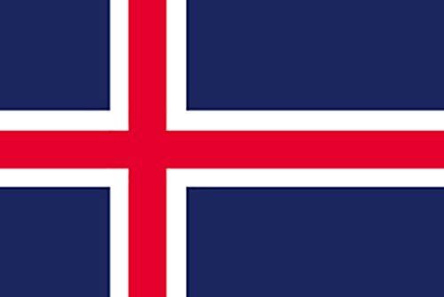 のぼり屋工房 N国旗 アイスランド No.2 W1350×H900mm 22804 (1489133)【smtb-s】