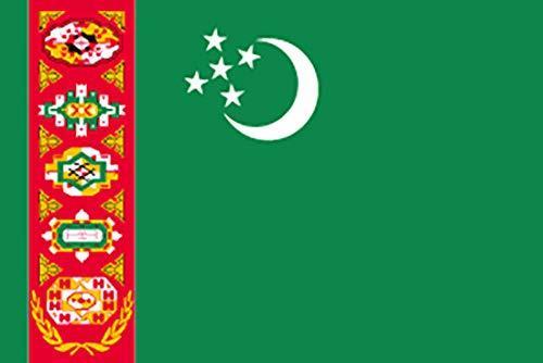 のぼり屋工房 N国旗 トルクメニスタン No.2 W1350×H900mm 23244 (1489573)【smtb-s】