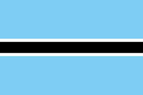 のぼり屋工房 N国旗 ボツワナ No.2 W1350×H900mm 23444 (1489773)【smtb-s】