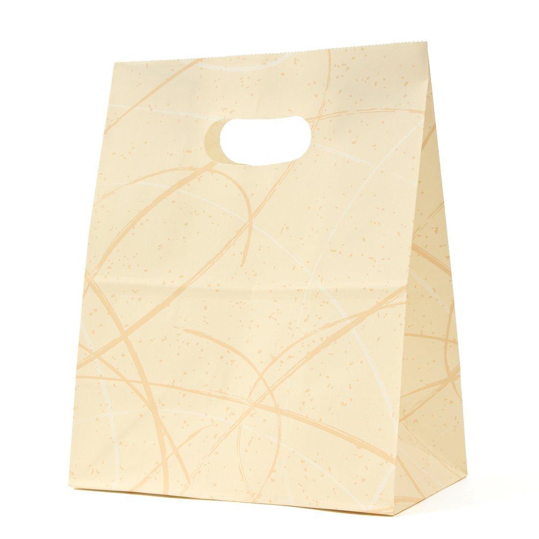 パックタケヤマ 紙袋 イーグリップ M ゆうびベージュ 50枚×10包 XZT52003【smtb-s】