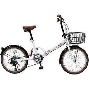 トップワン(TOP ONE) TOP ONE(トップワン) 20インチ 折畳み自転車 外装6段ギア付 【FS206LL-37-PW】 【北海道・沖縄・離島への配送不可】【沖縄・離島への配送不可】【smtb-s】