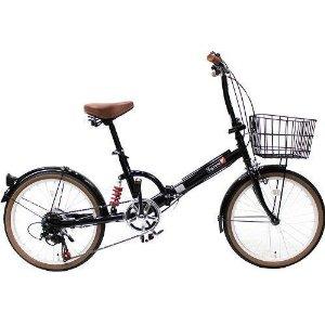 トップワン(TOP ONE) TOP ONE(トップワン) 20インチ 折畳み自転車 外装6段ギア付 【FS206LL-37-BK】 【北海道・沖縄・離島への配送不可】【沖縄・離島への配送不可】【smtb-s】