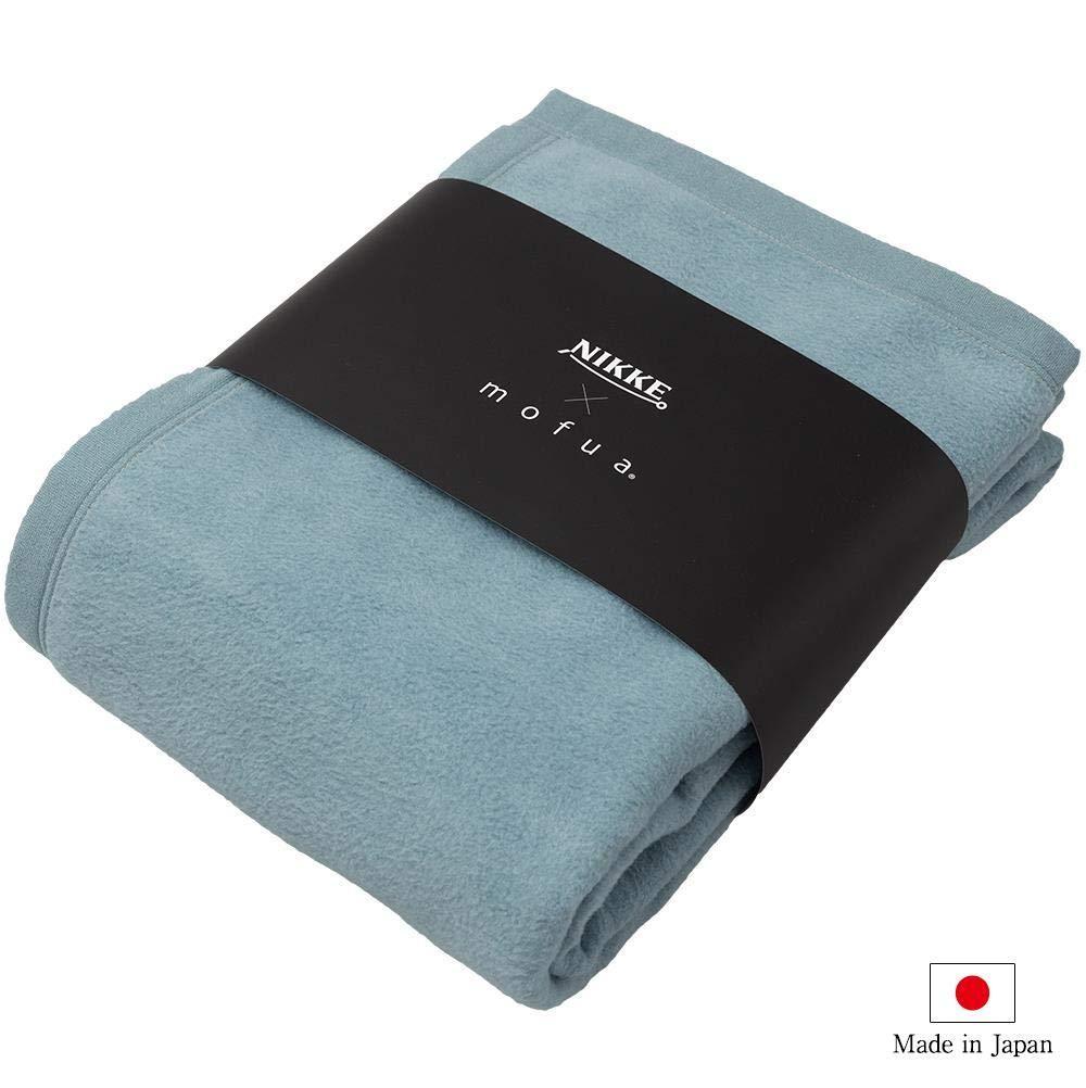 ナイスデイ NIKKE×mofua シルク100% 毛布 品番:564601T5 色:ブルーグリーン サイズ:S【smtb-s】