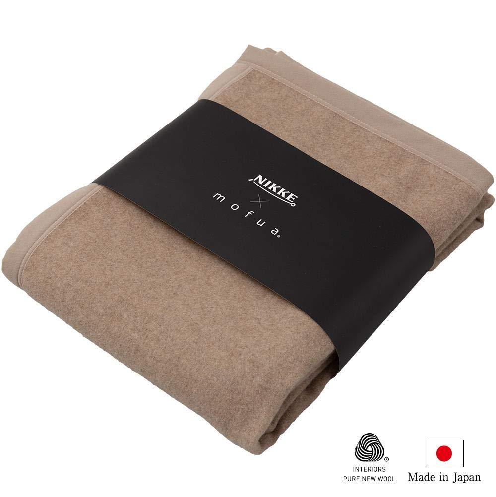 ナイスデイ NIKKE×mofua カシミア100% 毛布 品番:56470105 色:ベージュ サイズ:S【smtb-s】