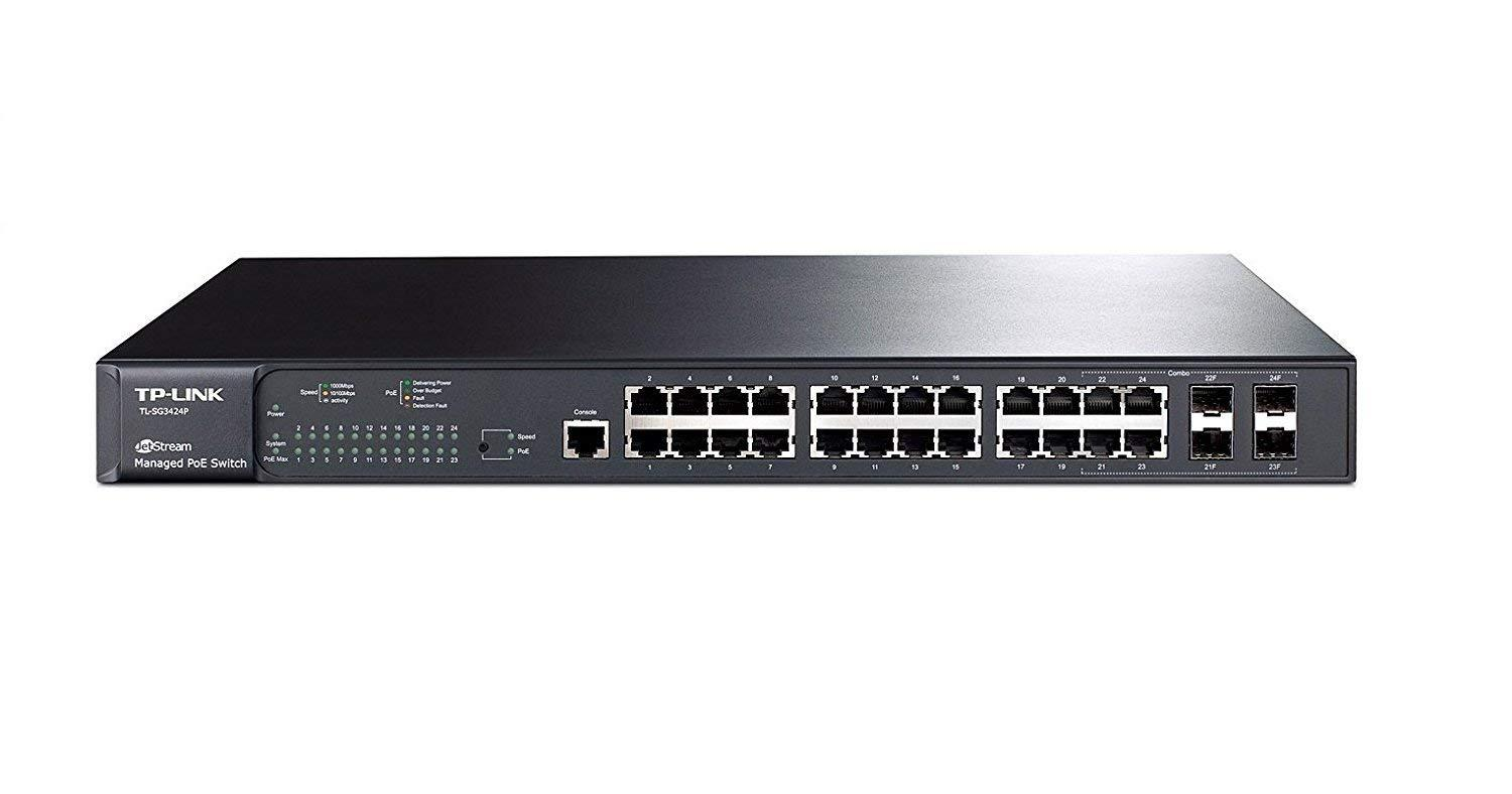 TP-LINK JetStream 24-Port Gigabit L2 Managed PoE+ Switch with 4 SFP Slots(T2600G-28MPS)【smtb-s】