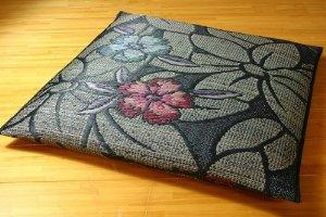 イケヒコ・コーポレーション(IKEHIKO) 純国産 袋織 織込千鳥 い草座布団 『なでしこ 5枚組』 ブルー 約60×60cm×5P【smtb-s】