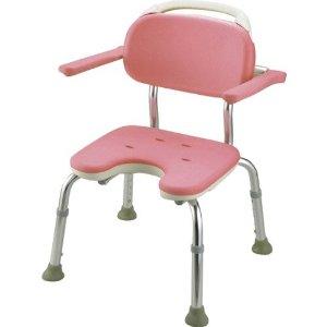 リッチェル やわらかシャワーチェア ピンク U型肘掛付コンパクト 49441 ピンク【smtb-s】