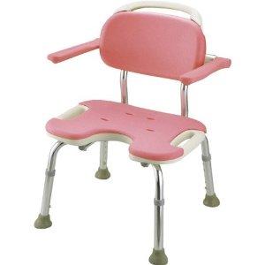 リッチェル やわらかシャワーチェア ピンク U型肘掛付ワイド 49461 ピンク【smtb-s】