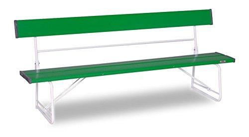 テラモト ベンチ (背付) 1800 緑 BC3000181【smtb-s】