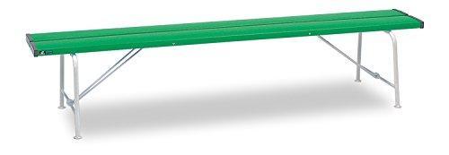 テラモト ベンチ (背なし) 1800 緑 BC3001181【smtb-s】