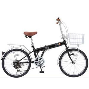 TOP ONE 自転車 (KGK206LL-09-BK)FDB 206 前カゴ鍵ライト付 T ※北海道・沖縄・離島への配送不可【沖縄・離島への配送不可】【smtb-s】