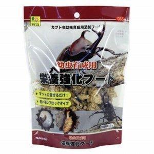 三晃商会 カブト幼虫育成用 栄養強化フード 約百グラム 85