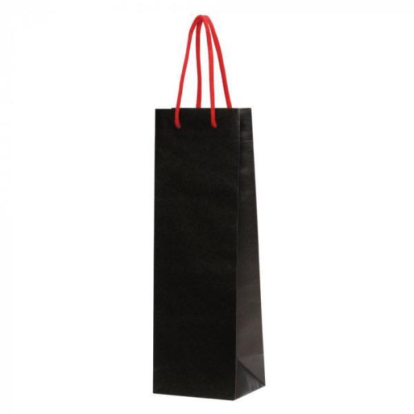 おすすめ特集 送料無料 パックタケヤマ 手提袋 HTワインバッグ 全商品オープニング価格 smtb-s XZV65501 ブラック 10枚×10束