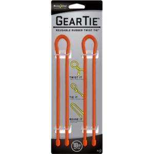 送料無料 PLATZ プラッツ NITEIZE お気に入 ナイトアイズ オレンジ 2個入 GT18-2PK-31 18インチ 内祝い ギアータイ