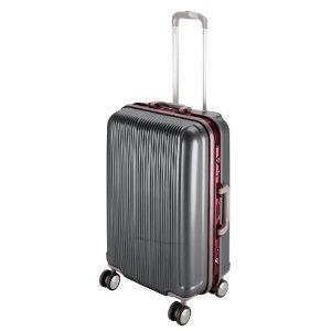 パール金属 パール グレル トラベルスーツケース(TSAロック付きHFタイプ)<L>(スチールグレー) UV-0007【smtb-s】