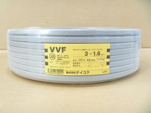 20-1303 テイコク 一般電力用配線VV-F3C×1.6 100m【smtb-s】