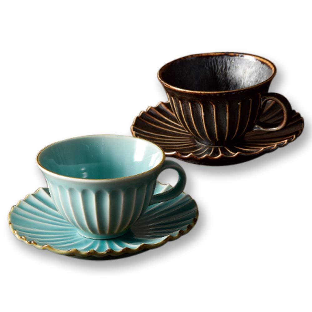 再再販 海外輸入 送料無料 ブルーム カップ_ソーサー 孔雀 トルコ 茶 2客入 16570