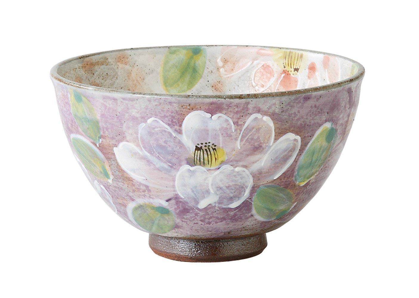 【送料無料】 西海陶器(Saikaitoki) 波佐見焼 軽量飯碗 (小) 濃草花柄 紫色 72600