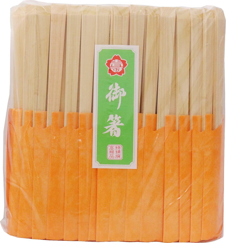 【送料無料】 吉井商事 割り箸 箸袋入天削箸 24cm 100膳 オレンジ YOS-053