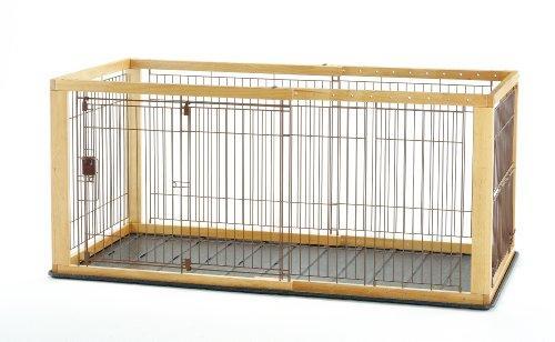 Richell(リッチェル) 木製スライドペットサークル ワイド 小型犬・中型犬用 【ナチュラル】【smtb-s】
