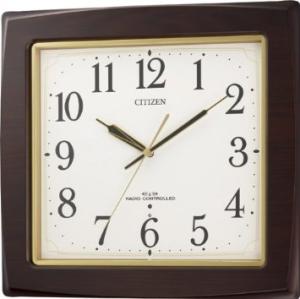 リズム時計 CITIZEN (シチズン) 電波 掛け時計 ネムリーナアスカ 木 茶 8MY455-006【smtb-s】