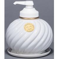 HANWA-SHOKO サラヤ ウォシュボン陶器製容器 MD-1 ポンプ付 ホワイト 1L×6本 (2451aq)【smtb-s】