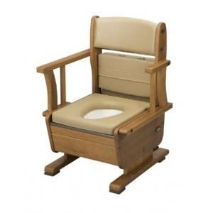 ウチエ 家具調トイレ 8230 幅広ゆったり仕様 さわやかチェアPTワイド 肘掛け長短自【smtb-s】