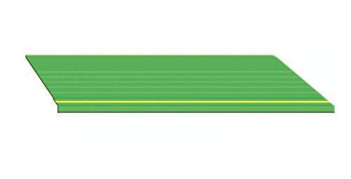 滑り止めマット 工場などの作業場、通路などに (915mm巾x20m) 業務用 リサイクル長マット縞鋼板シルバー 【マット 玄関マット 業務用玄関マット げんかんまっと】