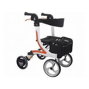 カワムラサイクル 屋内外両用歩行器 KW41 ホワイト×オレンジ