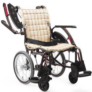 カワムラサイクル 次世代型標準自走式車いす ウェイビットプラス ソフトタイヤ WAP22-42S カフェモカ【smtb-s】
