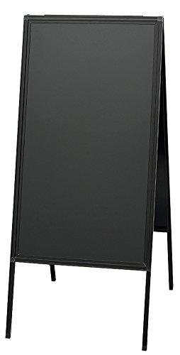 光・HIKARI 蛍光マーカー用アルミ枠スタンド黒板(両面) ABD85-1 (5056be)【smtb-s】