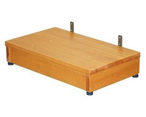 矢崎化工 木製ステップ台  高さ13~15cm TST-04B ブラウン