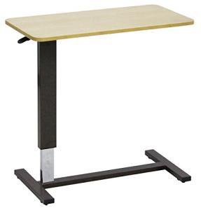 大商産業 ベッド用昇降テーブル LW-80 ライトブラウン (幅80×奥行40×高さ65~95cm) キャスター付【smtb-s】