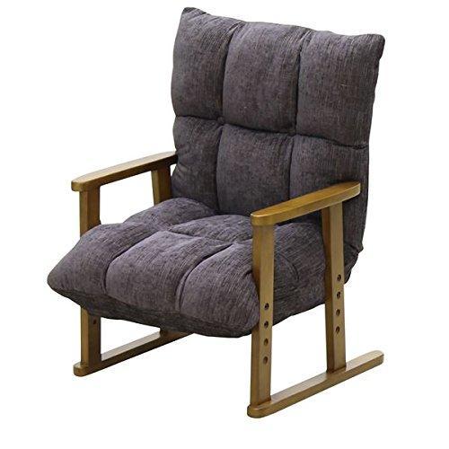 大商産業 高座椅子 ブラック A23066 NA-062BK【smtb-s】