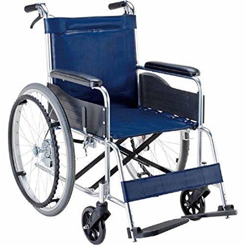 マキライフテック 車椅子(アルミ製) ビニールレザー(紺)NCNK1500048-9386-12【smtb-s】