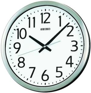 SEIKO CLOCK (セイコークロック) 掛け時計 アナログ 防湿・防塵型 オフィスタイプ 金属枠 KH406S【smtb-s】
